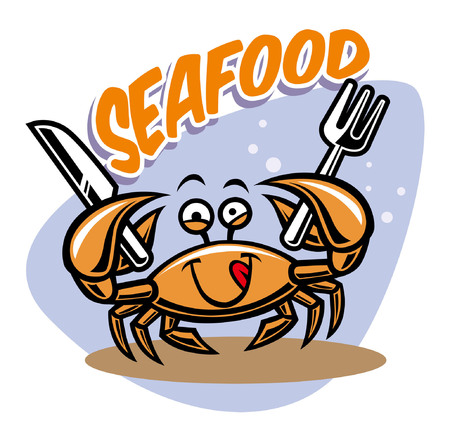Crab seafood hold the silverware