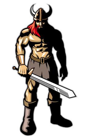 Viking warrior Foto de archivo - 95618807