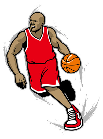Basketball player Ilustrace