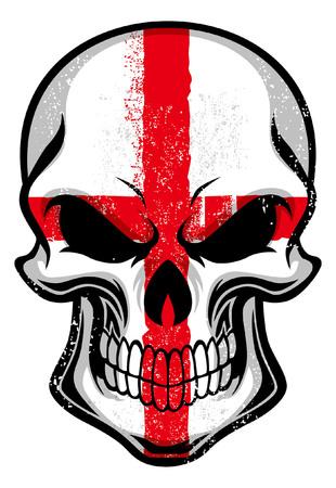 England flag painted on the skull Illustration