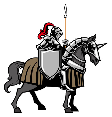 Knight riding the horse  イラスト・ベクター素材