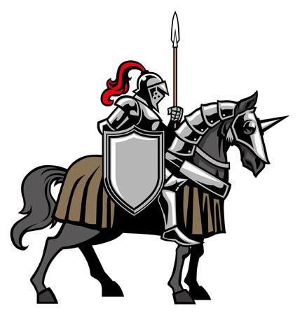 Knight riding the horse 일러스트