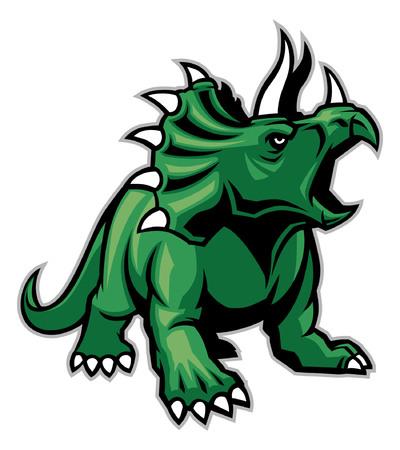 Triceratops mascot Illustration