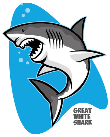 Great white shark Ilustracja