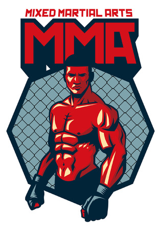 MMA fighter badge