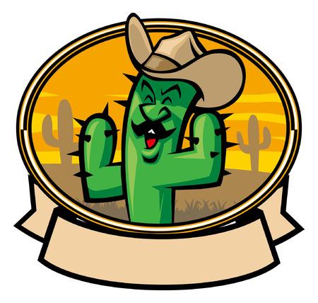 Carton character of cactus