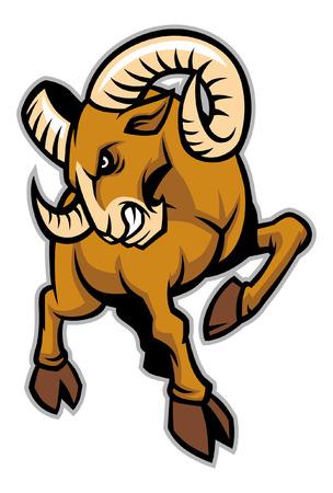 ram sport mascot style Stock Illustratie