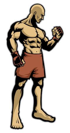 MMA-Kämpfer Standard-Bild - 95586392