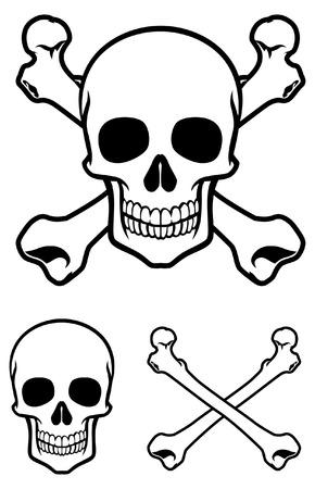 skull with crossed bones Stock Vector - 95586403