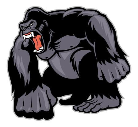 angry big gorilla 일러스트