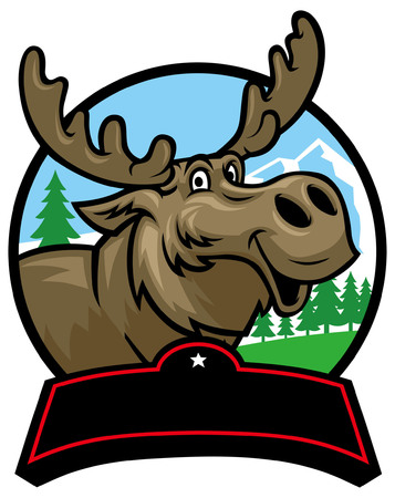 cheerful of moose cartoon Banque d'images - 95596876
