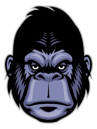 Testa di gorilla mascotte Archivio Fotografico - 95596901