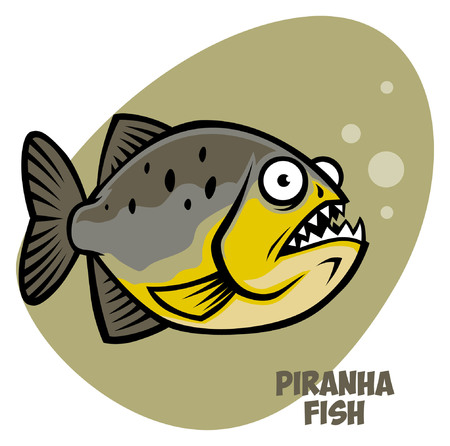 cartoon of piranha fish