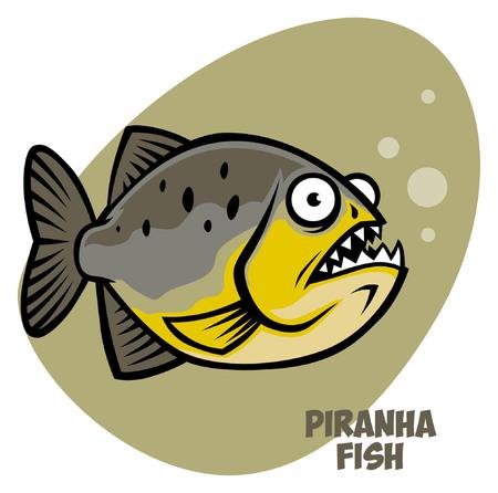 cartoon of piranha fish