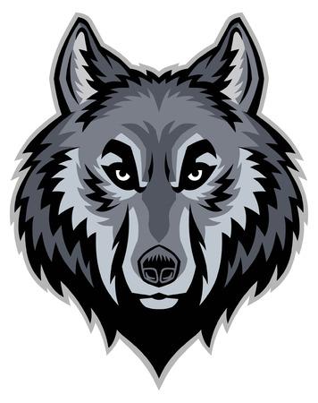 Capo della mascotte del lupo Archivio Fotografico - 95001352