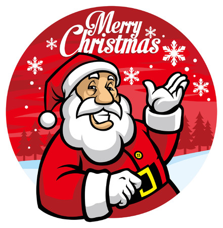 happy santa claus greeting christmas design