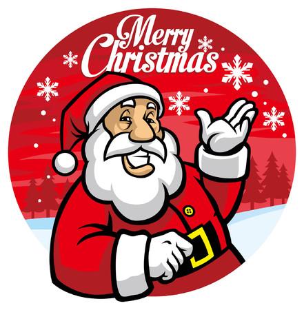 happy santa claus greeting christmas design