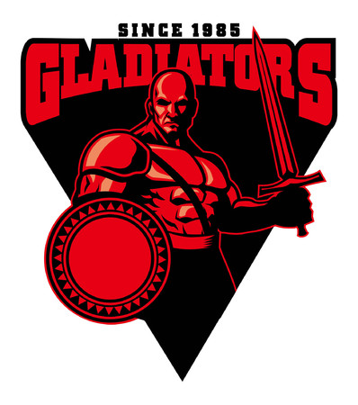 gladiator mascot design