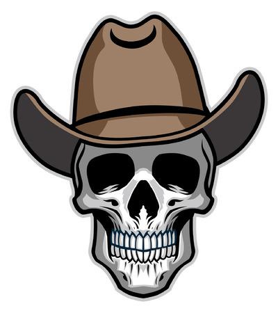 skull of cowboy