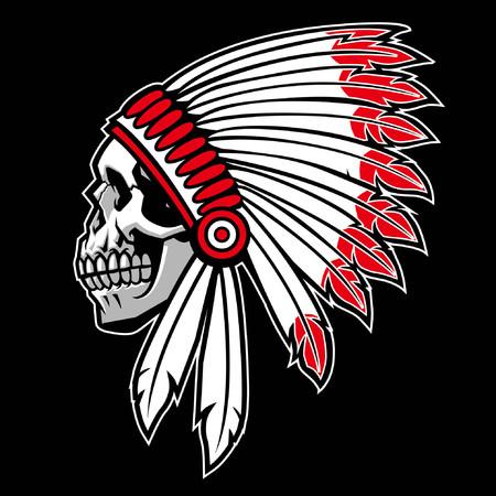 cráneo del jefe indio