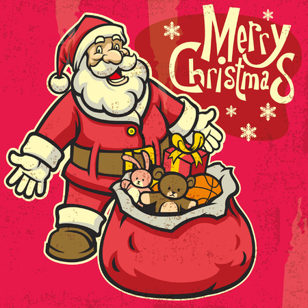 happy santa claus with textured