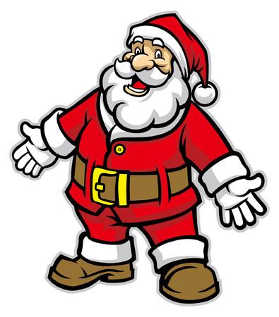 cartoon of happy santa claus