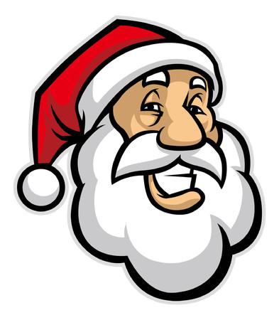 cartoon van het hoofd van de kerstman