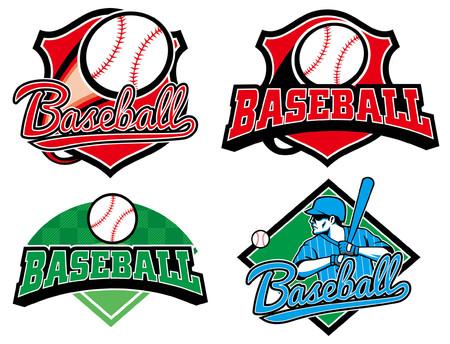 set of baseball badge