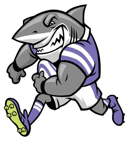 Rugby-Maskottchen des Weißen Hais