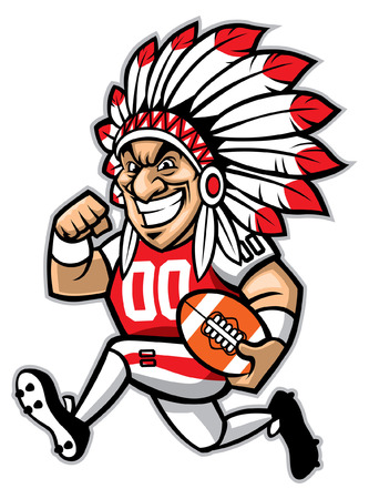 football mascot of indian chief