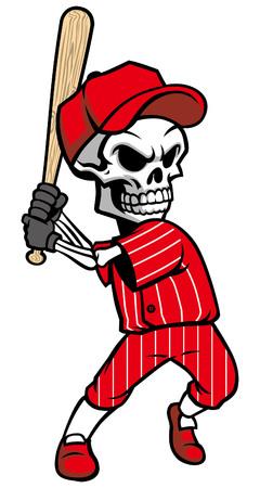 baseball mascot of skull