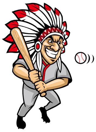 baseball mascot of indian chief