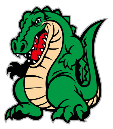 angry crocodile mascot