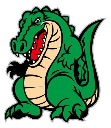 angry crocodile mascot Stok Fotoğraf - 108722522