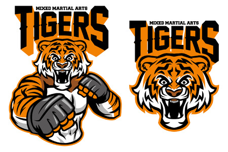 tiger mascot MMA in set