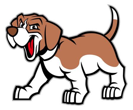 beagle mascot Illusztráció