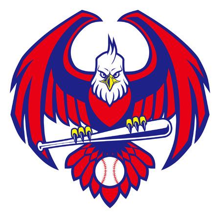 eagle baseball mascot Ilustrace