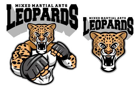 Leopard MMA mascot set