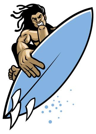 Surfer macht Surftrick