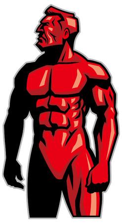 muscle bodybuilder man