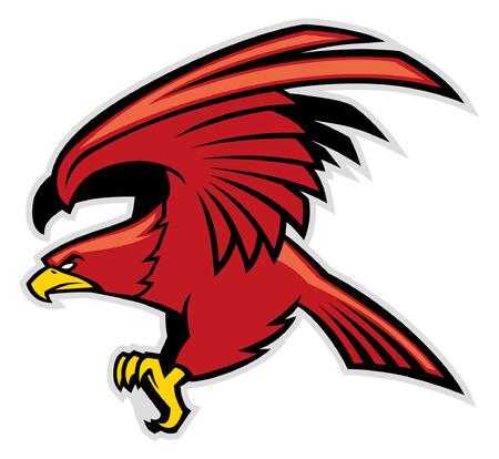 eagle mascot Ilustração