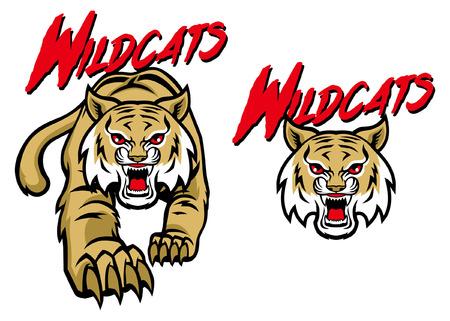 wildcat mascot set Illustration