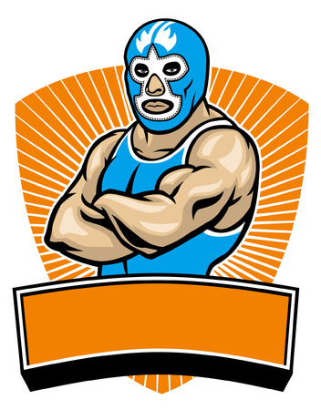 traditional mexican wrestler mascot