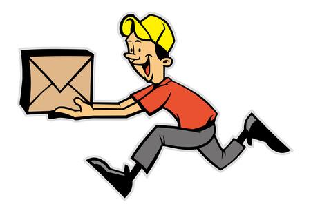 mailman mascot running