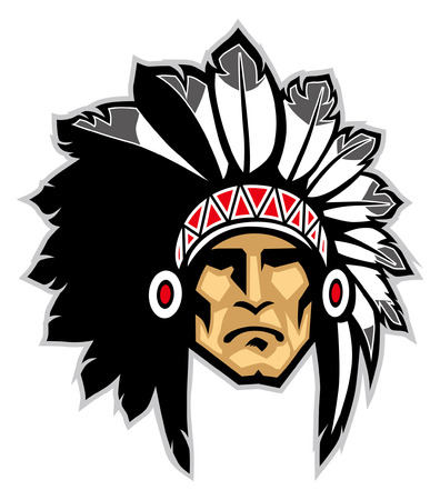 mascot of indian chief mascot 일러스트