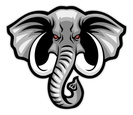 elephant head mascot Stock fotó - 115323698
