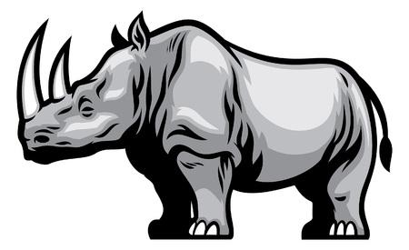 Afrikanisches Nashorn Vektorgrafik