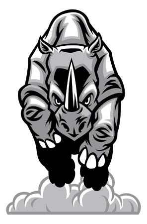charger le rhinocéros Vecteurs