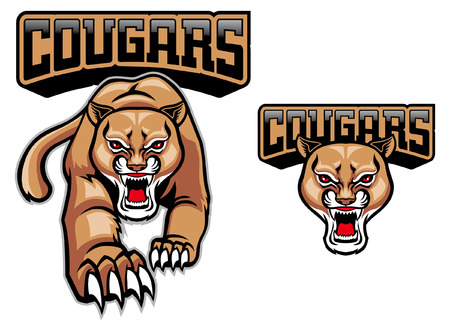 cougar mascot set Illustration
