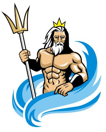 mascota de Poseidón Ilustración de vector